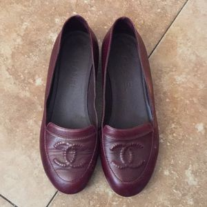 Chanel authentic loafers shoes size 37 GUC